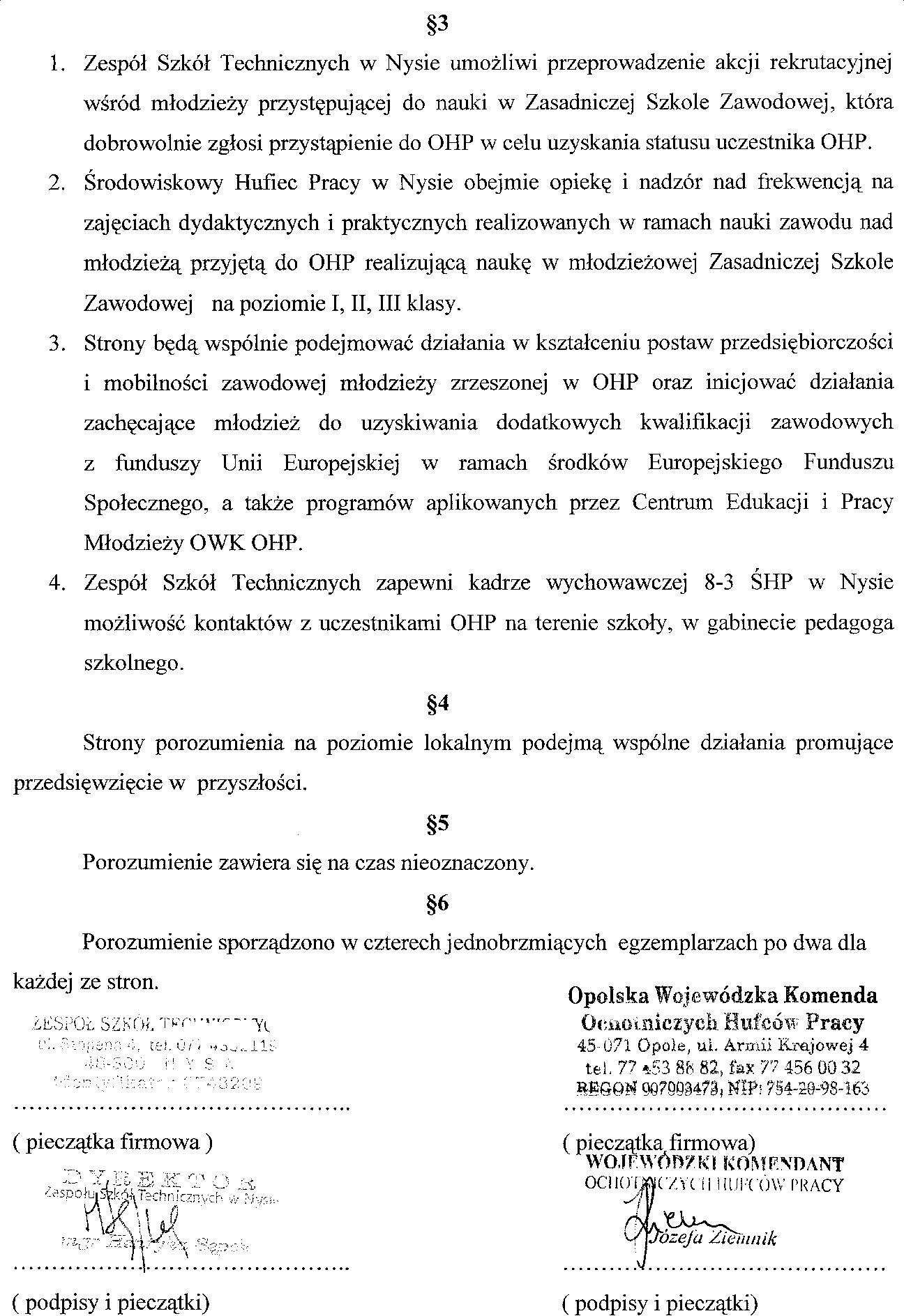 ŚHP - umowa I